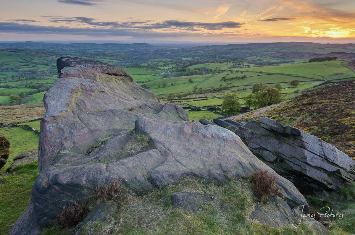 Taken from the Roaches, looking west over towards Macclesfield. (0.9ND Grad Filter)