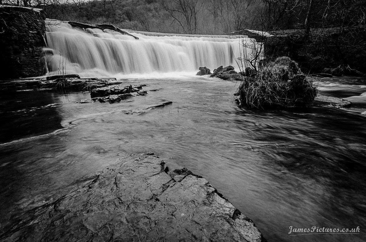 Monsal head waterfall near Little Longstone