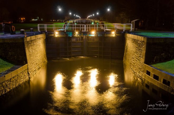 Neptunes Staircase is a staircase lock comprising eight locks on the Caledonian Canal. It is the longest staircase lock in the United Kingdom, and lifts boats 64 feet.