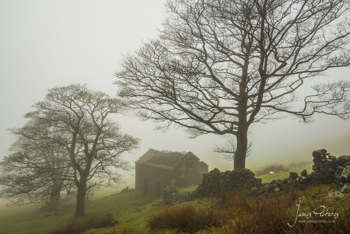 Low lying fog one morning up at Roach End Barn in the Peak District.