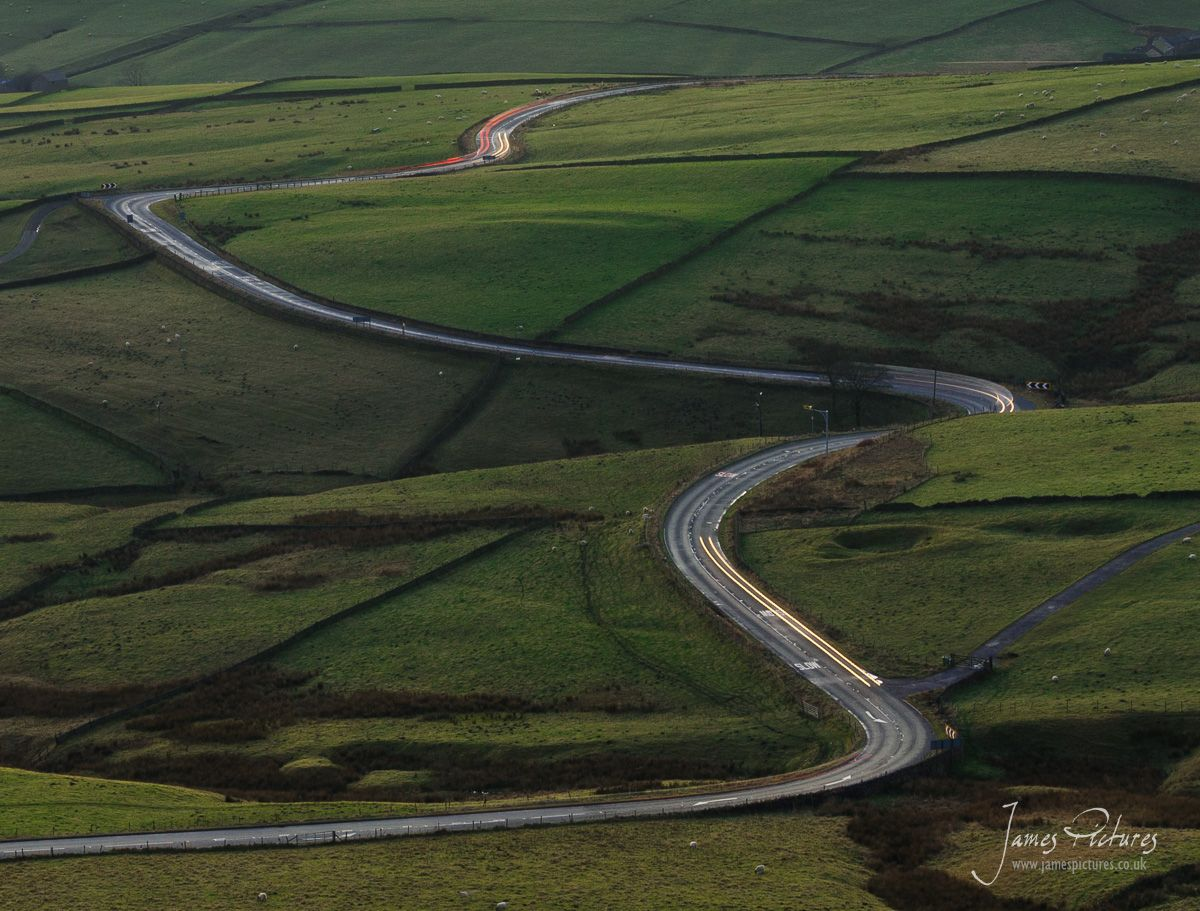 Winding Roads in the Peak District