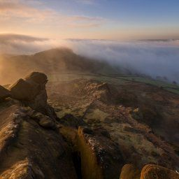 A cloud inversion at The Roaches