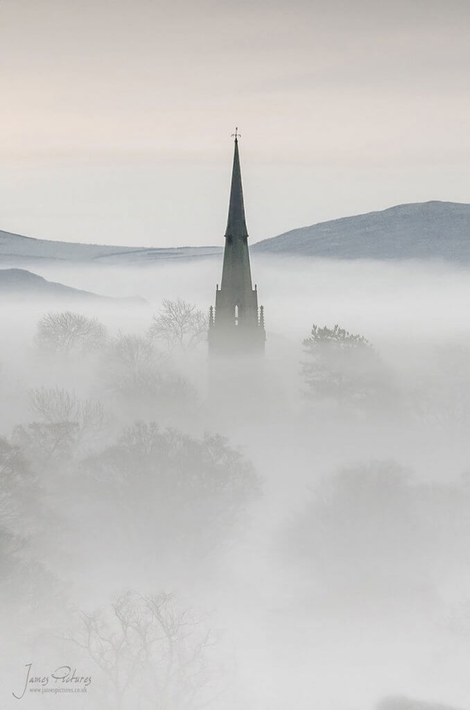 Butterton Church in the Mist