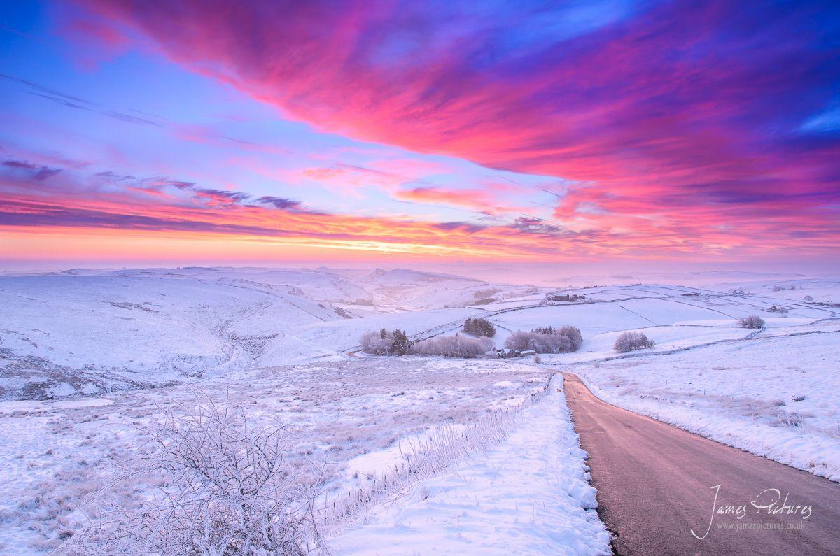 Axe Edge Sunrise And Snow  Peak District