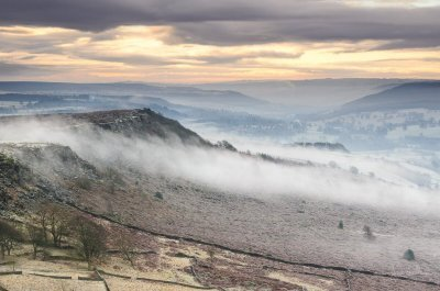 Baslow Edge  Creeping Mist