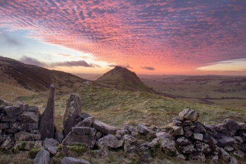 Red Sky Above Chrome Hill