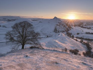 Chrome Hill Snow Sunrise in Derbyshire Peak District