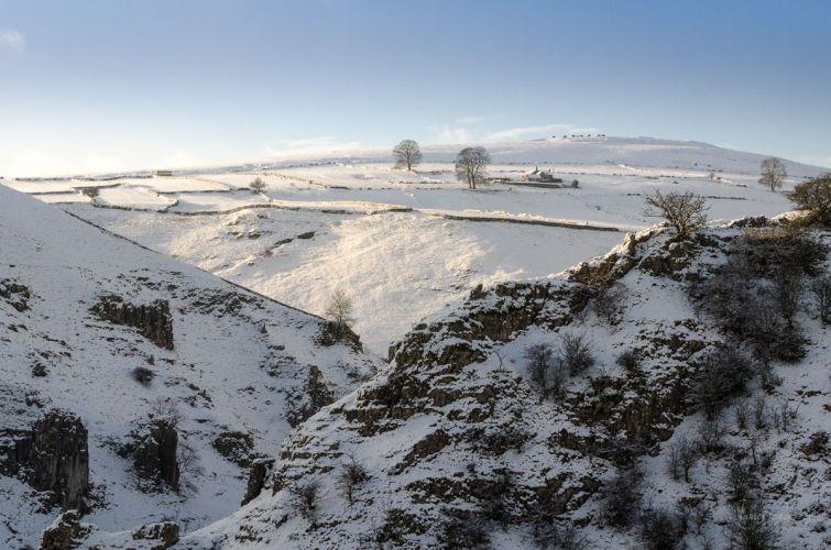 Wolfscote Dale under snow