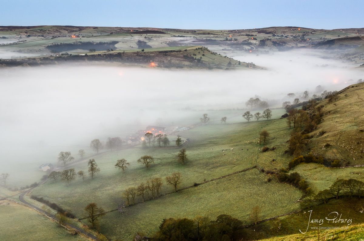 Mist Lingering In The Upper Dove Valley