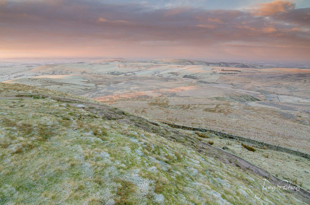 Frost Covered Shutlingsloe Peak District