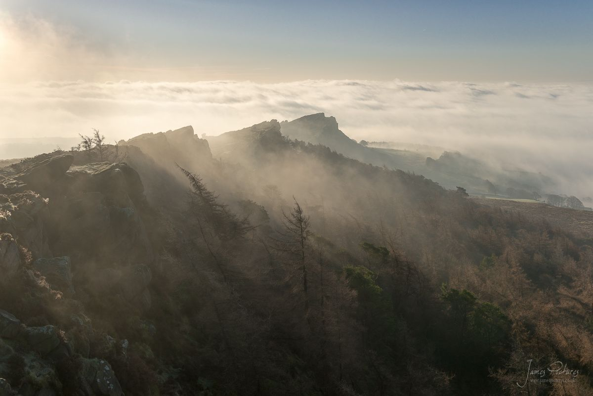Hen Cloud Emerges Inversion Peak District
