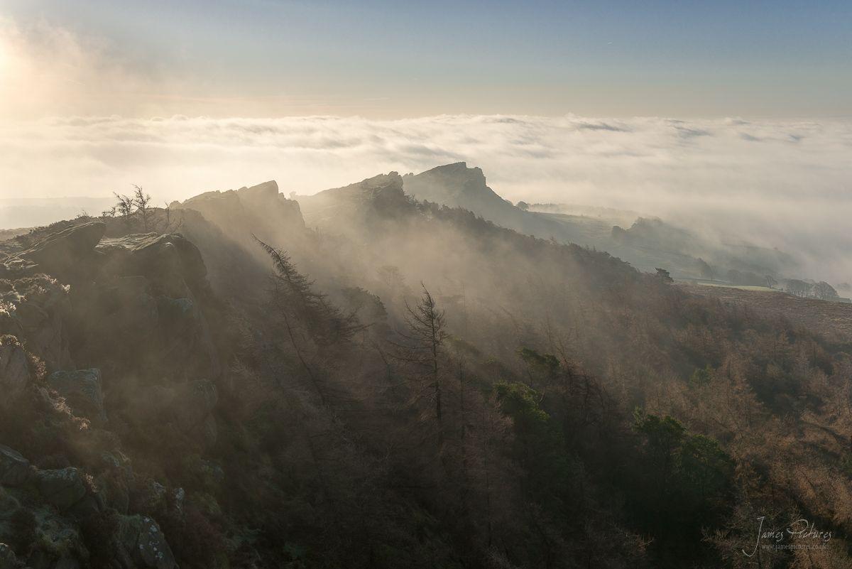 Hen Cloud Emerges Inversion Peak District