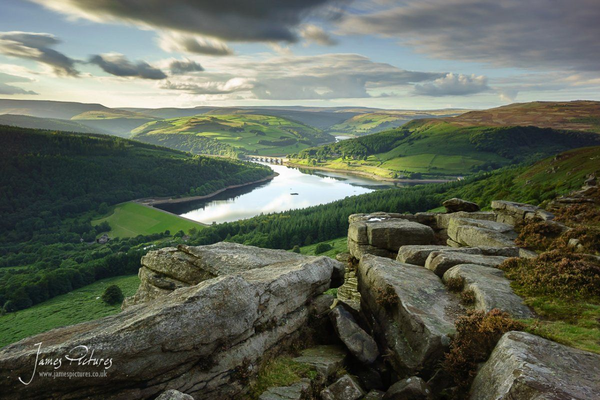 Looking Down Onto Ladybower Reservoir