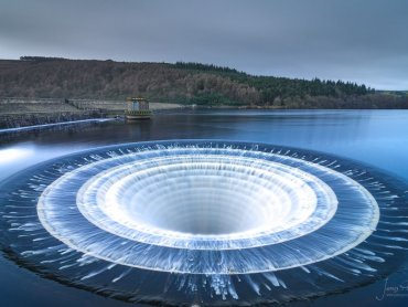 Plughole At Ladybower Reservoir