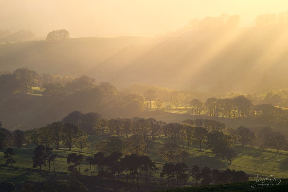 Peak District Rays of Light