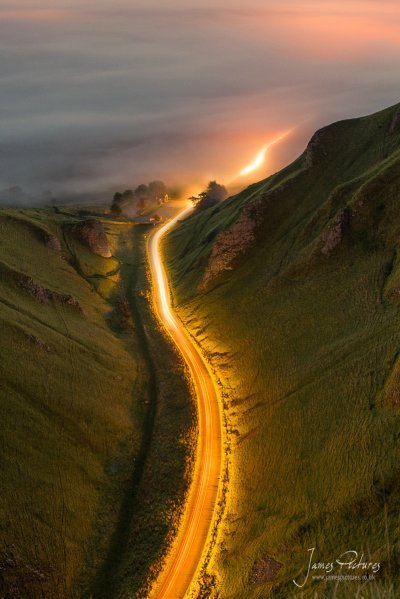 Winnats Pass Light Trails