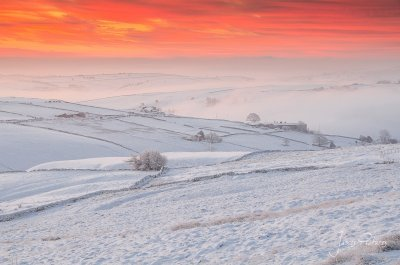 Peak District Winter Scene