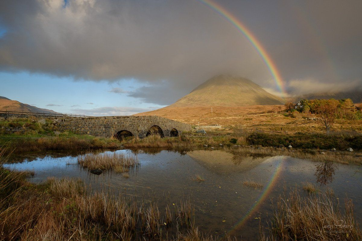 Rainbow over Glamaig Scotland Landscape Photography