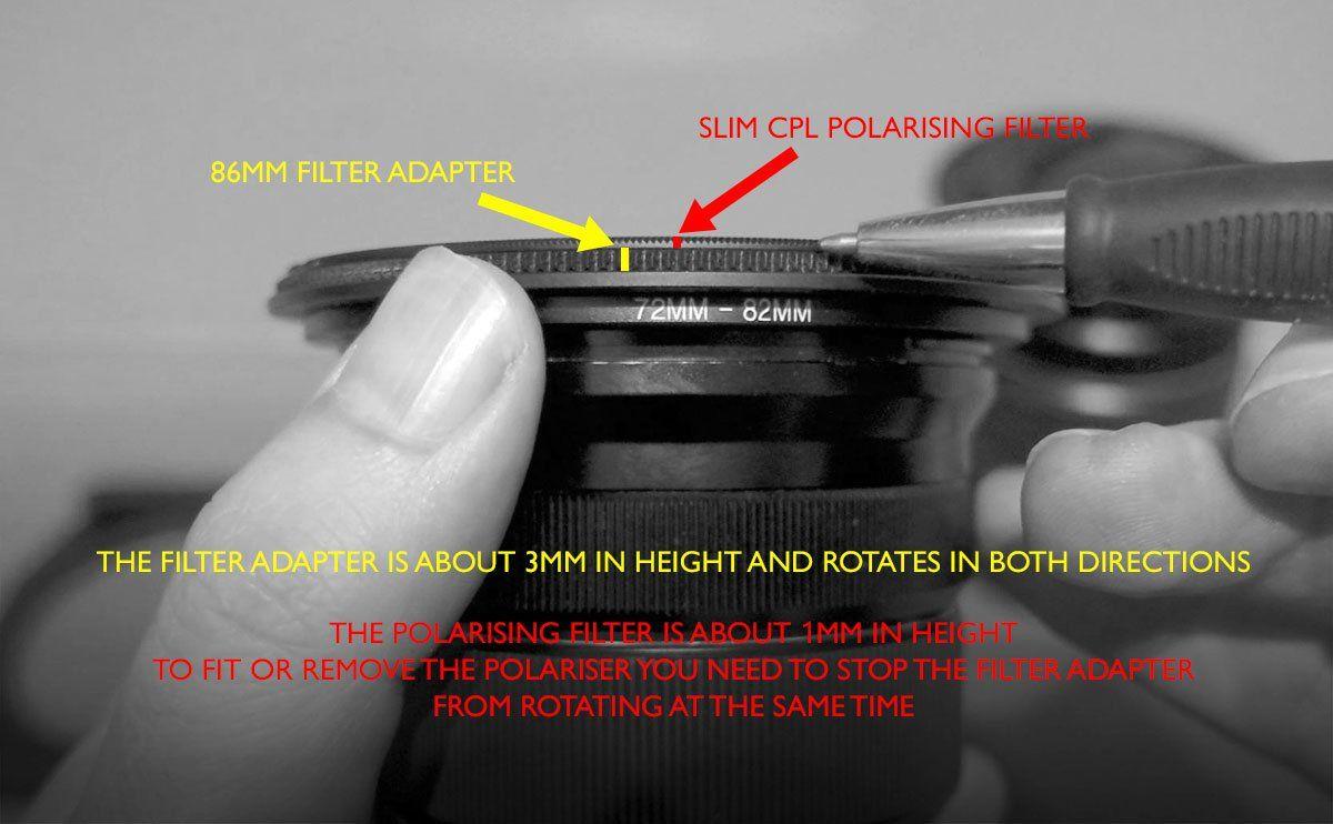 Removing The Kase K100 Polarising Filter