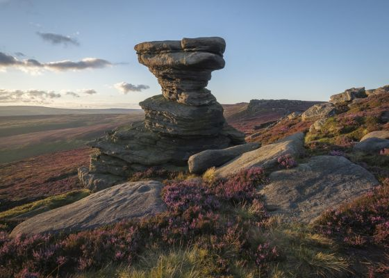 the gritstone rock formation of the salt cellar