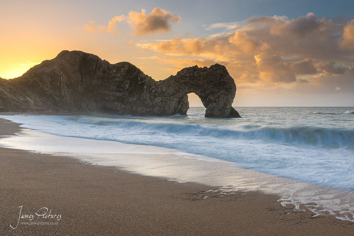 Durdle Door on the Jurassic Coast at Sunrise