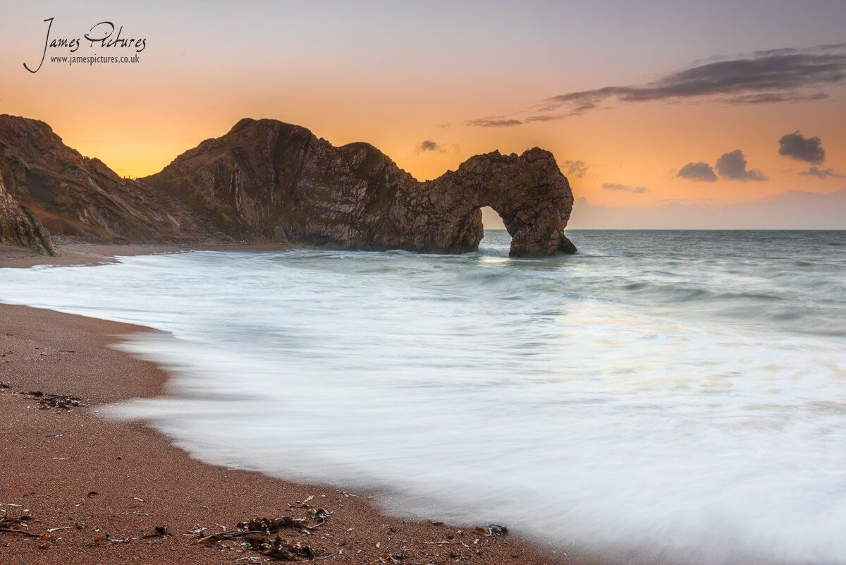 A wonderful sunrise at Durdle Door on the Jurassic Coast