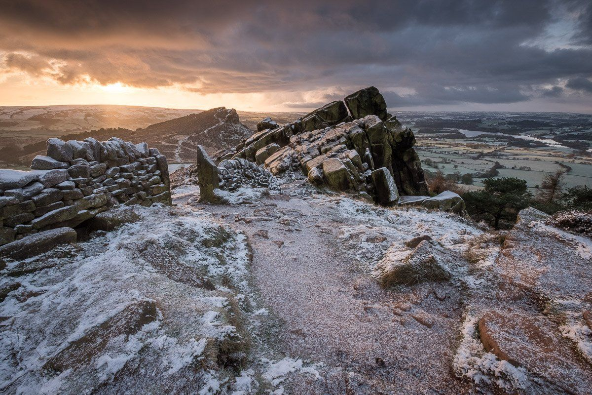 The Roaches in Staffordshire at Sunrise