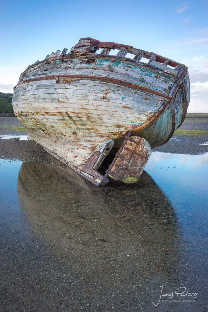 One of the stranded boats in Dulas Bay, Anglesey North Wales