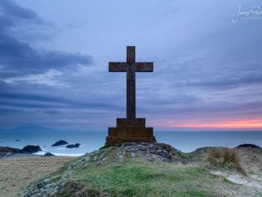 Dwynwens Cross - Llanddwyn Island has 2 large crosses on them, I took this one at dusk.