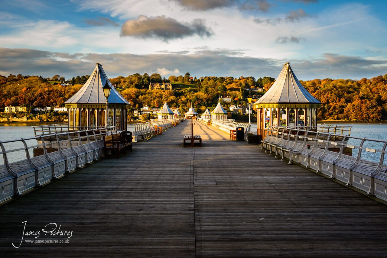 A postcard view of Garth Pier which is a Grade II listed structure in Bangor, Gwynedd, North Wales