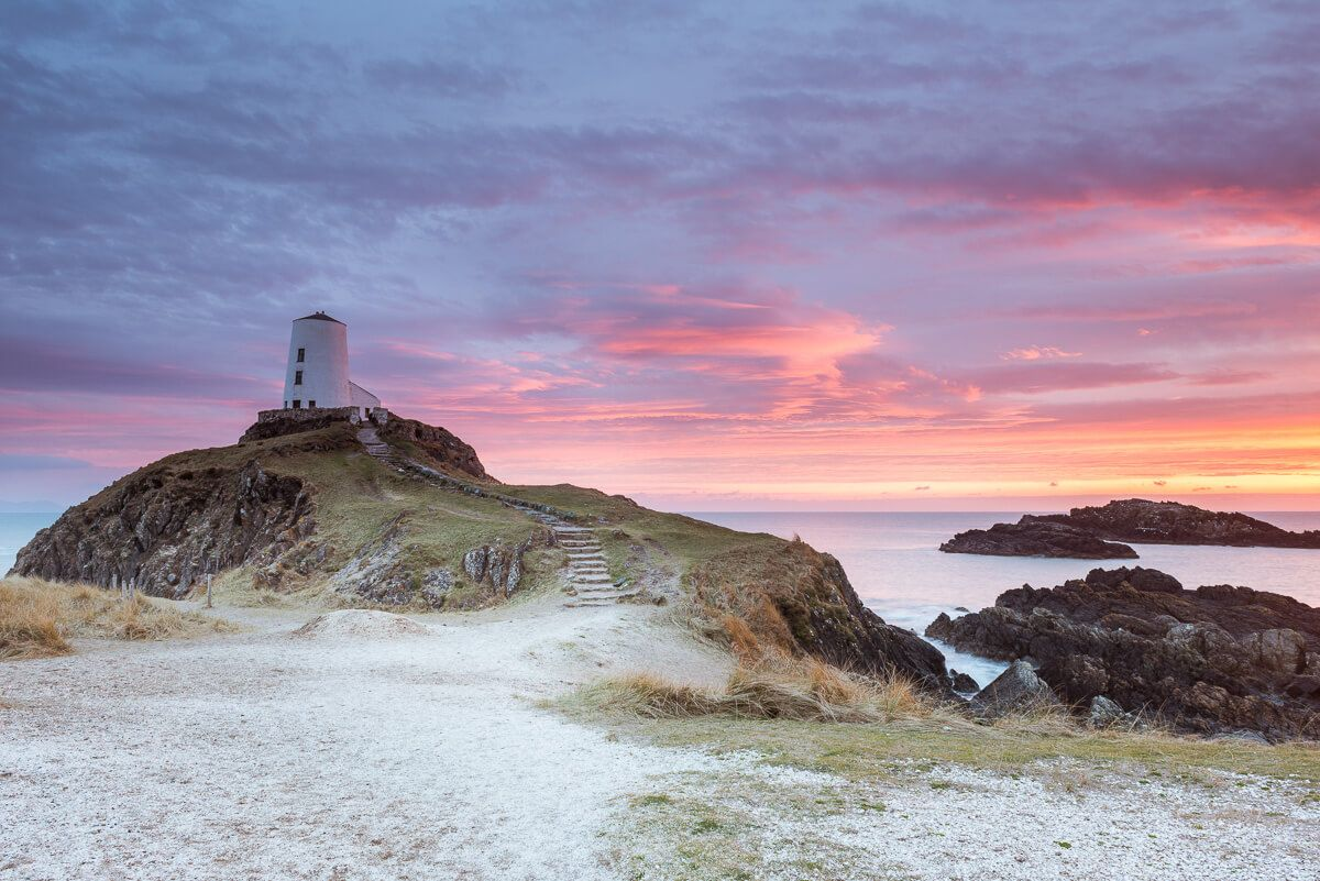 Llanddwyn Island sky turns a stunning vibrant red, the island is a stunning you can spend all day there.