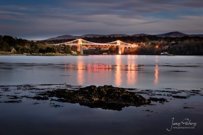 The Menai Bridge, the entrance to Anglesey!