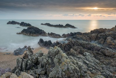 This was taken on the Northern most edge of Llanddwyn Island. Whilst waiting for the sun to set I had a play with my new Lee Little Stopper