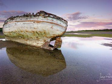 Stranded boat in Anglesey