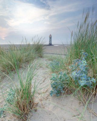 A view though the sand dunes at Talacre