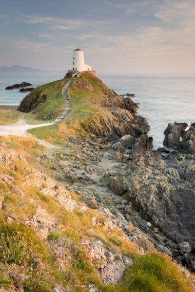 The stunning Twr Mawr Lighthouse at sunset