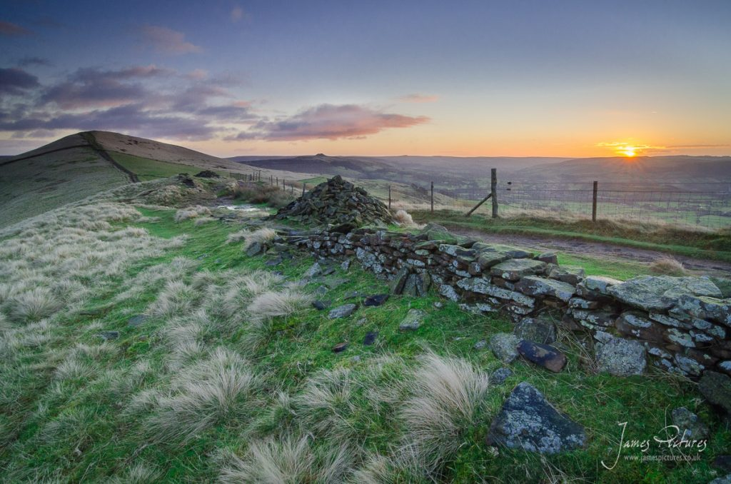 The sun decided to show as I was on Back Tor, so using a Cairn I composed this quick image.