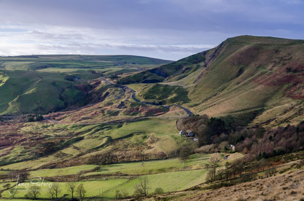Taken from Hollins Cross as the sun rises from my left, casting some lovely light onto Mam Tor