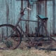 I dont know how long this bike has been leaning against this old shed on Glen Etive Road