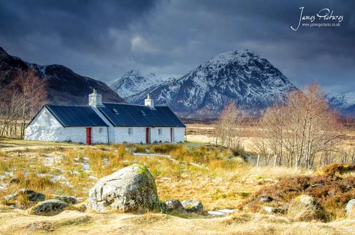 Black Rock Cottage is probably one of the most photographed cottages in the Highlands of Scotland just outside Glencoe.