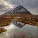 Walking up the River Etive I stumbled upon a nice composition of the magnificent Stob Dearg.