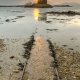 This was the only glimpse of a sunset I had all week at Castle Stalker, Scotland