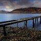 After 3 days of demoralising rain we were heading towards Mallaig for the day to see if the weather was any better. As we drove towards Fort William we noticed this old jetty on Loch Linnhe.