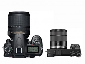 Comparing the D7000 next to the Nex 7