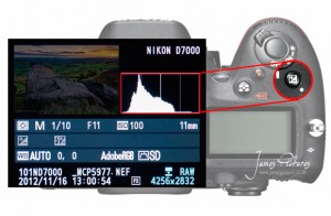 Using exposure compensation to correct adjust the exposure