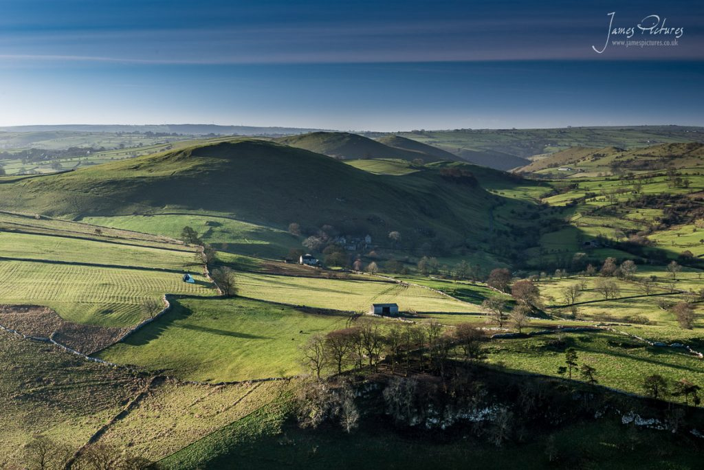 Looking out over to Gratton Hill from Wolfscote Hill in the Peak District