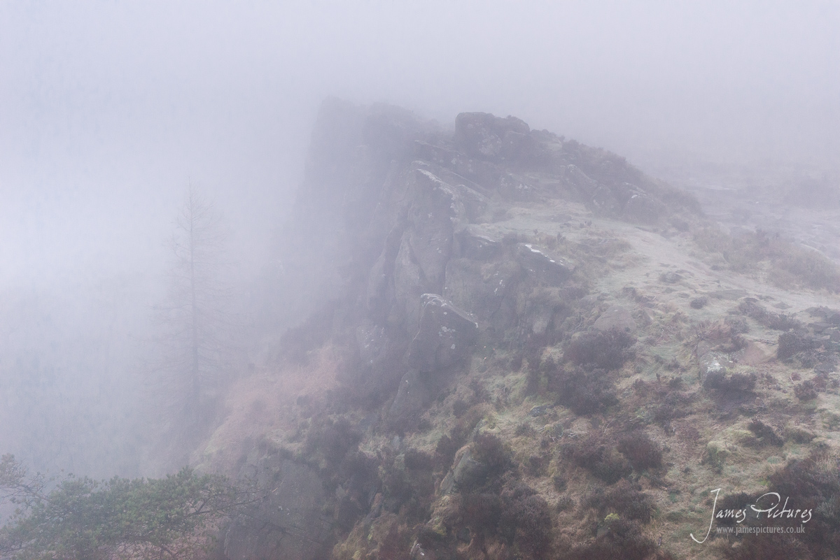 Poor visibility at The Roaches
